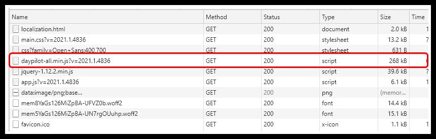 javascript scheduler small footpring