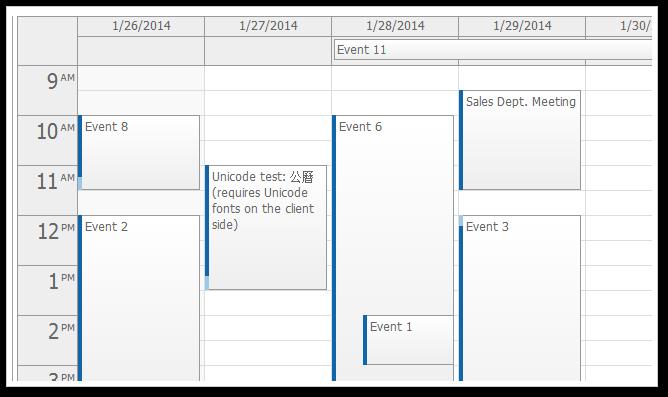 Weekly Calendar Jquery : Javascript event calendar daypilot for
