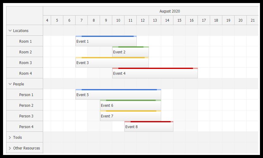 javascript scheduler component html5