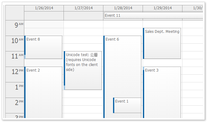Monthly Calendar Using Javascript : Daypilot for javascript html calendar scheduler and