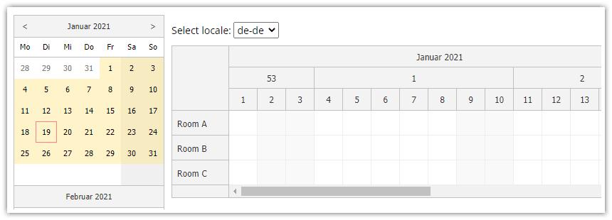 javascript scheduler localization